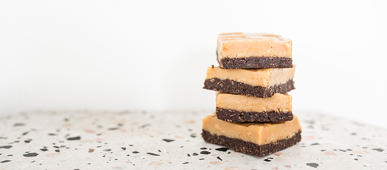 Vegan Chocolate Peanut Butter Fudge Bites