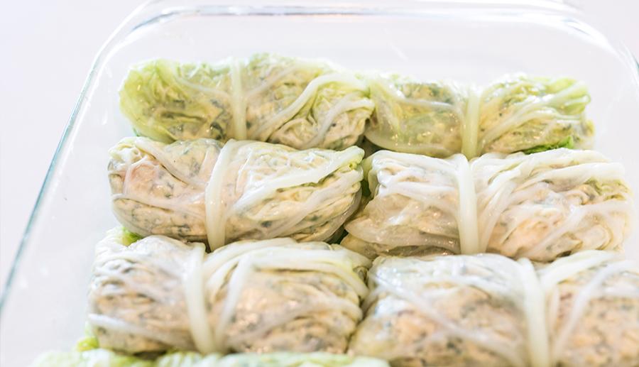 Vegan Ricotta and Spinach Rolls