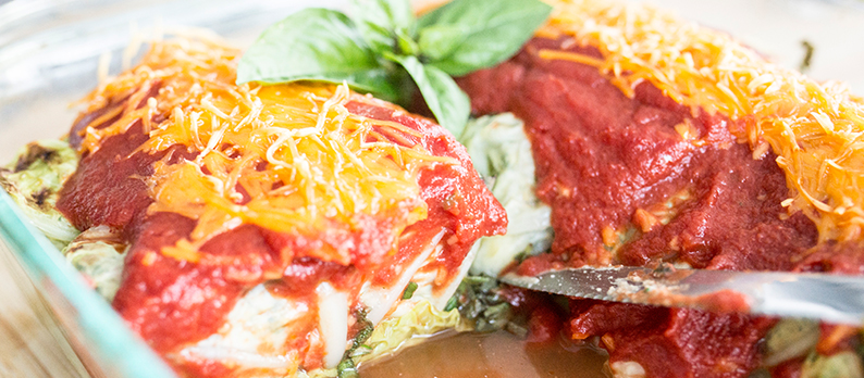Vegan Spinach and Ricotta Cabbage Rolls