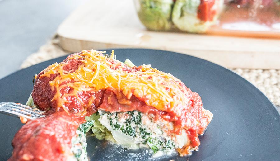 Vegan Spinach Ricotta Rolls
