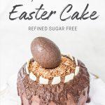 Vegan Triple Chocolate Easter Cake