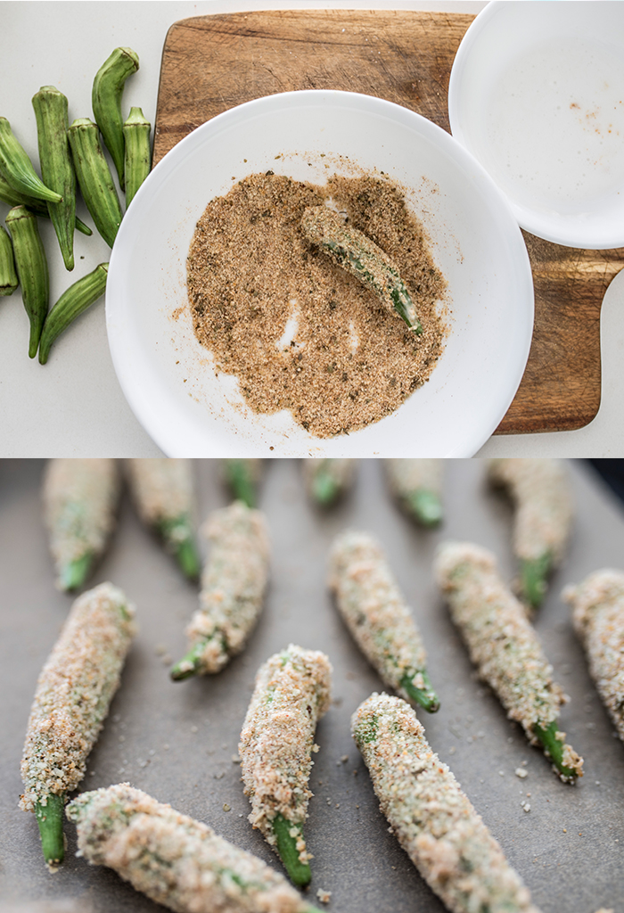 Vegan Crumbed Okra Recipe