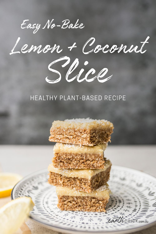 No Bake Lemon Slice Recipe