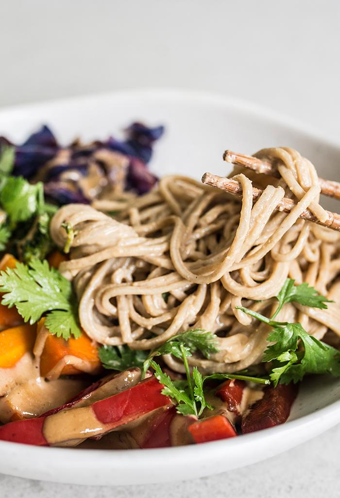 Satay Soba Noodles Vegan